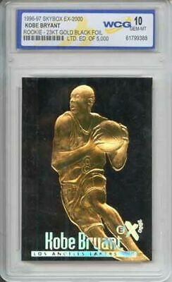 BLACK 23K GOLD KOBE BRYANT 1996 Skybox ROOKIE Card Gem Mint 10 Graded