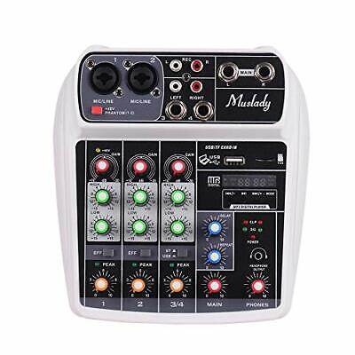 Muslady Ai 4 Compact Sound Card Mixing Console Digital Audio Mixer Channel Bt