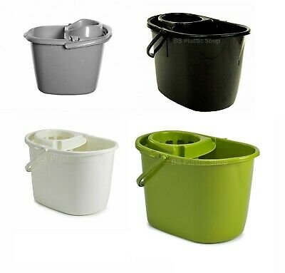 14L Plastic Mop Bucket With Handle Strainer Hygienic Floor Tiles Cleaning