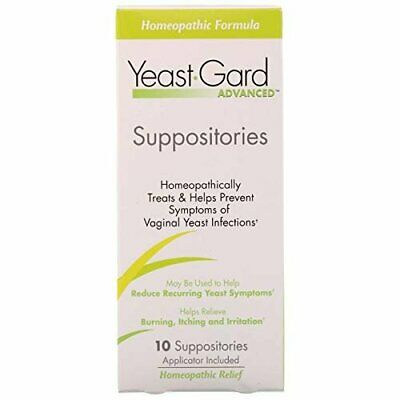Yeast-Gard Women's Advanced Homeopathic Formula Suppositories 10 Ea (Pack of 5)