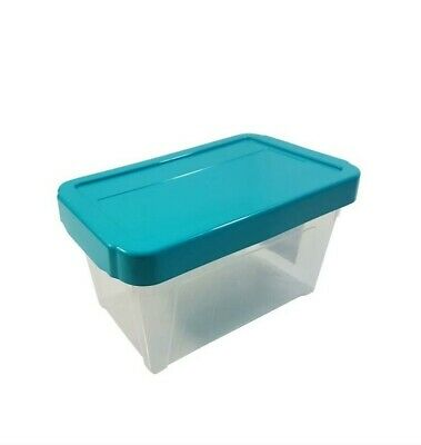 "10 X Stackable Teal Cd Dvd Office Garage General Storage Box 10"" @Last Stocks@"