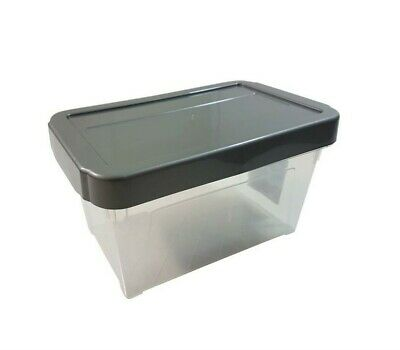 "8 X Stackable Silver Cd Dvd Office Garage General Storage Box 10"" @Last Stocks@"