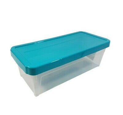 "15 X Large Stackable Teal Cd Dvd Office Garage Storage Box 17"" @Last Stocks@"
