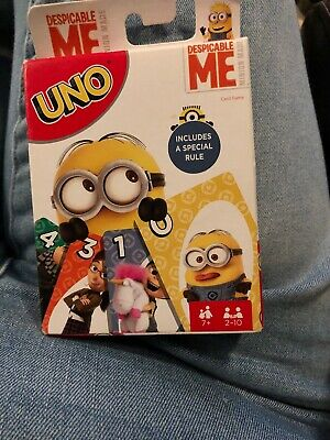 NEW Despicable Me Minion UNO Card Game With A Special Rule!