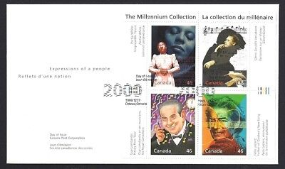 Canada    # 1820 a-d   EXTRAORDINARY  ENTERTAINERS    New 2000 Unaddressed Cover
