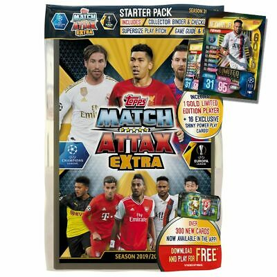 Match Attax Champions League 2019/20 Extra Starter Pack with Neymar Gold Limited