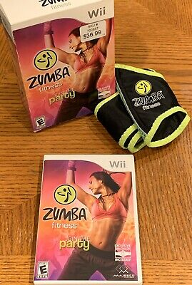 Zumba Fitness Nintendo Wii Video Game with Fitness Belt And Wii Fit Accessories