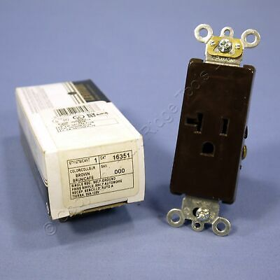 Lot of 2 Leviton Ivory COMMERCIAL Decora Single Receptacle Outlets 125V #16351-I