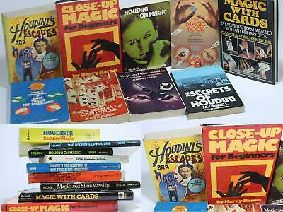 Magic Books Tricks Lot Balls Rope Coin Cards Stage Closeup  Magician Vintage
