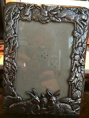 "Arthur Court Bunny Rabbit Picture Frame 4"" x 6"" 1987 EUC"