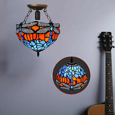 TIFFANY Style Hand Crafted Antique Design Ceiling Lamp Lights Shade Home Decor