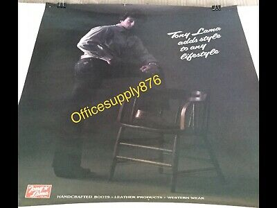 SYLVESTER STALLONE Western Wear Boot Advertisement TOMY LAMA Poster RARE! 22x17