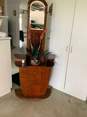 Hall Stand Antique Silky Oak - Excellent Condition