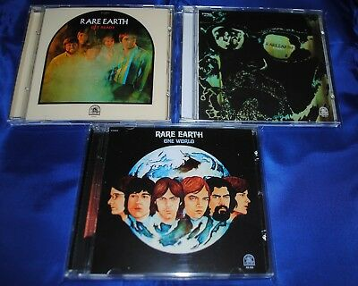 RARE EARTH - 3CD Set - One World / Ecology / Get Ready