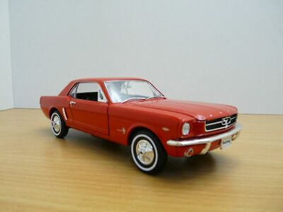 FORD MUSTANG coupe HARD TOP rouge 1/24 1964 1/2