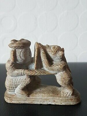 Archaic Antique Chinese Tibetan Carved Natural Jade/Hardstone~Mythical Statue