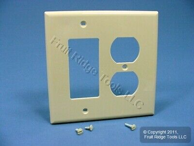 Leviton Ivory Duplex Outlet Cover Decora Rocker Switch GFCI Wallplate PJ826-I