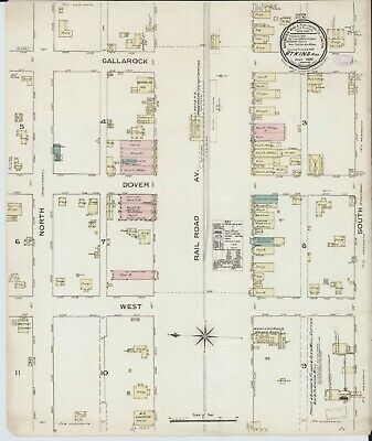 Atkins, Arkansas~Sanborn Map© sheets~ 15 maps~~ CD~in full color~1886-1913