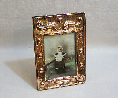 Antique English Arts & Crafts Art Nouveau Copper Photograph Picture Frame C1910.