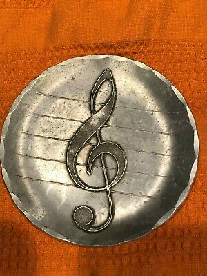 WENDELL AUGUST FORGE Vintage Coaster Aluminum Music Note
