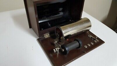 Antique Medical Electric Shock Device Very Nice Dovetailed Craft Wood Box, quack