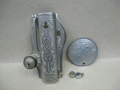 Vtg Early Singer 15 Treadle Sewing Machine Ornate Nickel Face & Side Plates (L1)