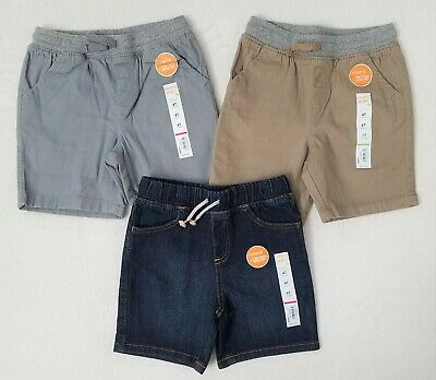 JUMPING BEANS Toddler Boys Twill Shorts Size 4T Cliff Gray NWT