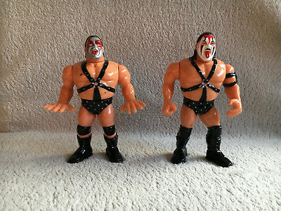 Demolition Ax Smash WWF Tag Team Hasbro Vtg Action Figure lot 1990 WWE wrestling