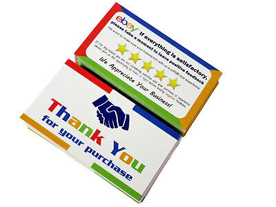 100 Thank You Cards for eBay Business Size Double Sided High Quality Made in USA