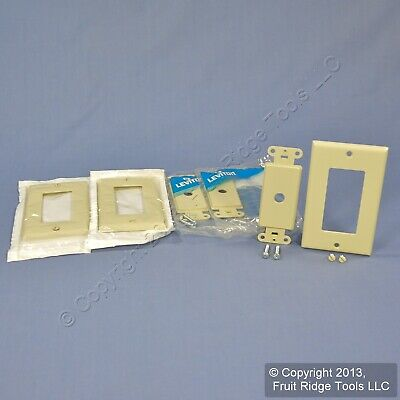 3 Leviton Ivory Decora 1-Gang Rotary Dimmer Switch Covers Wall Plates 80400-I