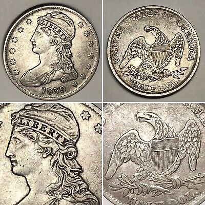 1839 CAPPED BUST SILVER HALF DOLLAR - Very Nice Coin