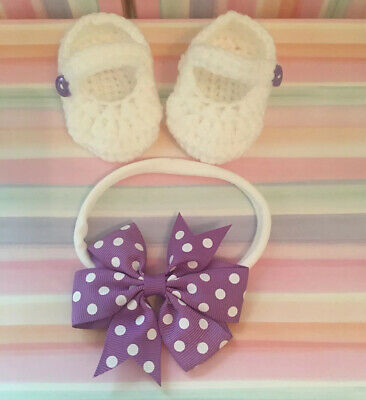 Romany Bling Baby Girl Headband And Matching Shoes Newborn