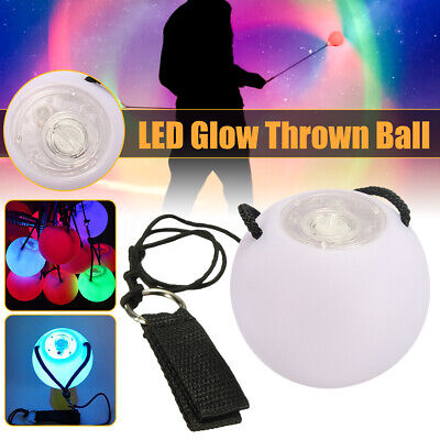 1X LED Multi-Coloured Glow POI Thrown Balls Light up For Belly Dance Hand