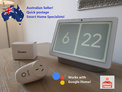 WiFi Smart Plug - Sonoff S26 - Works with Google Home and Alexa - Voice Control!