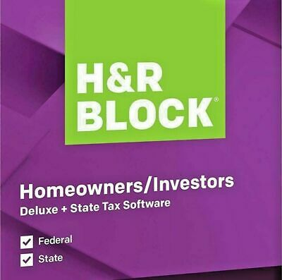 H&R BLOCK Tax Software Deluxe + State 2019  PC/Mac Disc -NEW & SEALED! FAST SHIP