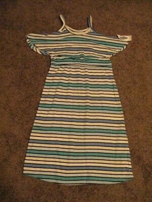 Old Navy  NWT  Girls Size 5   Blue/White Striped  DRESS