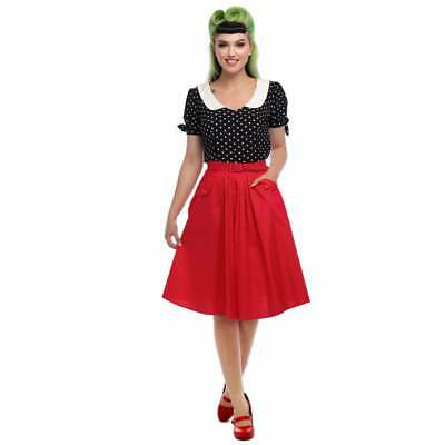Collectif Vintage Dakota Plain Swing Skirt
