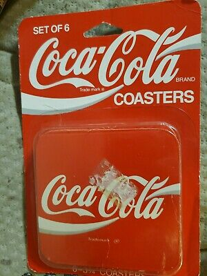Set Of 6 Coca Cola and diet coca cola Coasters
