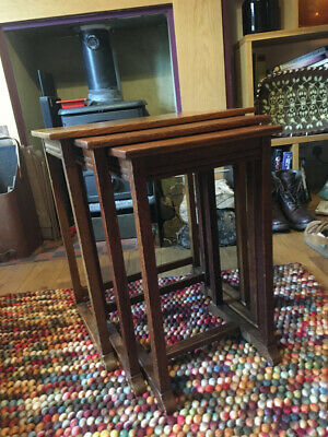 Waring and Gillow Ltd 1932 Lancaster Factory Oak Nest of Tables