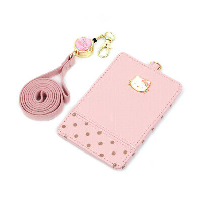 Hello Kitty Necklace Card Wallet Pink Dot Fashion Item Cute Girls Gift Purse