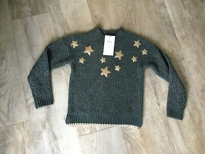 Marks & Spencer M&S Girls Star ' Sequin Jumper Age 8/9 Years NEW