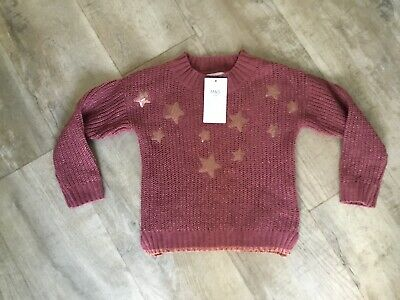 Marks & Spencer M&S Girls Star ' Sequin Jumper Age 7/8  Years NEW