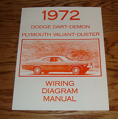 1971 Plymouth Duster Valiant Wiring Diagram Manual 71 9 00 Picclick