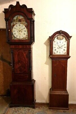 "Extremely rare 3/4 sized ""apprentice"" Longcase Grandfather Clock C1790"