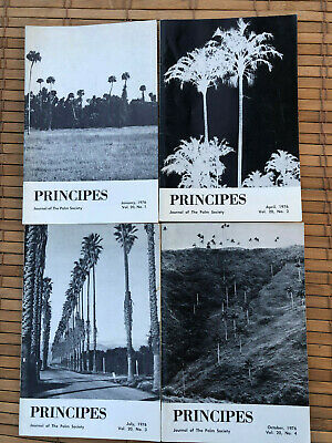 1976 Journal Of The Palm Society - Principes (Now Palms)  Vol.20 Nos. 1,2,3,4