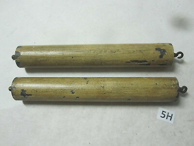 Pair (2) of clock weights 3Lb each total of 6LB wood grain surface 32mm x 215mm
