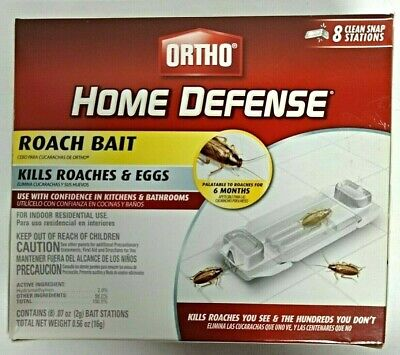 ORTHO Home Defense ROACH BAIT STATION, 8 Pk, PEST CONTROL, INSECTS, ROACHES
