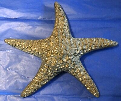 "Vintage Solid Bronze 10"" Starfish Beach House Seaside Wall Hanging Decor"