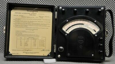 Westinghouse PA-5 portable AC Voltmeter style 936243 bakelite w/ mirrored scale