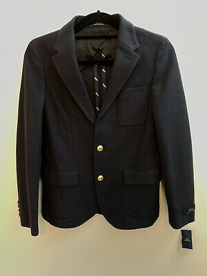 Ralph Lauren Polo Boys Age 16 navy Morgan jacket sport blazer smart occasion NEW